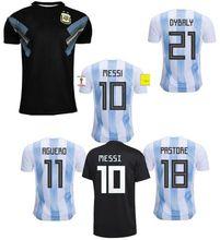 Thai Quallity Camisetas de Futbol World Cup patch 2018 Away black Argentina Maradona Messi Dybala Football Soccer Jerseys Argentine Shirts