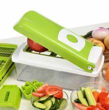 Vegetable fruit chopper 12 in 1 dicer plus nicer cutter peeler shredder graters cutting genius kitchen tools