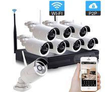 insoer 8CH 1.3MP 960P Plug and Play Wireless HD WI-FI NVR IR Bullet IP Cameras Security Home Surveillance CCTV Kit
