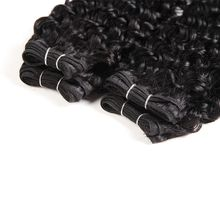 Jerry Curl Brazilian Human Hair Weave Bundles 100% Human Hair Extensions Double Drawn Weft For Black Women 1B