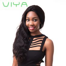 VIYA Brazilian Virgin Hair Body Wave Hair Weave 3 Bundles Full Head Set Unprocessed Virgin Human Hair Weave Natural Black WY905D
