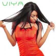 VIYA Brazilian Straight Hair 3 Bundles Unprocessed Virgin Brazilian Straight Human Hair Weave Bundles Natural Black Color WY905D