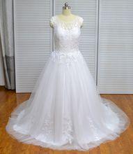 Custom Made Wedding Dresses Cap Sleeves Bridal Gown 2018