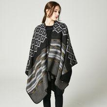 New 2017 Christmas Party Lady Blanket Oversized Tartan Scarf Wrap Shawl Print White and Black Pashmina Corlorful Autumn Winter Scarves