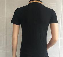 brand clothing embroidery tiger fashion snake shirts casual short sleeve summer men hip hop tops shirts