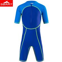SBART Kids Lycra Short Sleeve Swimwear Boys Girls Wetsuits Snorkeling Clothing Children's Sun Protection Diving Suit Wetsuits