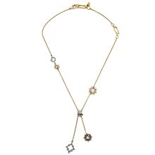 New Fashion Costume Jewelry Vintage Antique Bronze Alloy Rhinestone Star Charm Pendant Necklace Accessories for Women