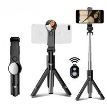 Bluetooth Selfie Stick Mini Tripod Extendable Monopod With Mirror For iPhone For Android For Samsung