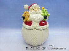 Christmas decorations snowman cookie jar collectors ceramic craft cookie box