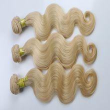 Brazilian Virgin Hair Blonde Hair Body Wave Hair 613 Color Hair Body Wave Bundles 613 Hair