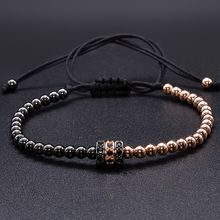 Cool Summer Zircon Bracelet Bangle Bracelets for Women Gold Caps Micro Pave CZ beads twisted macrame Bracelets Valentine Gift