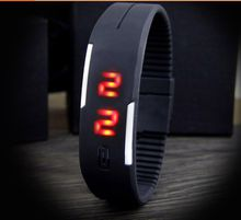 touch controls Candy Color Ultra Thin Men Girl Sports Silicone Digital LED Sports Bracelet Wrist Watch