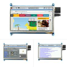 7 inch LCD display monitor suitable for with touch screen 800*480 computer HDMI HD BB BLACK