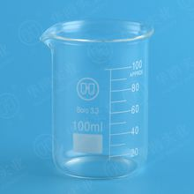 100ml Low form beaker with graduation and spout,Boro 3.3 glass,5-10000ML
