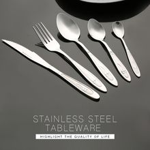 Family hotel restaurant stainless steel cutlery set