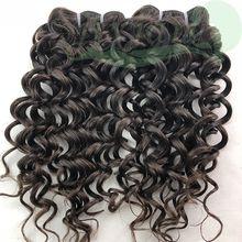 Brazilian Hair 100% Human remy hair weft YDL wavy 25cm