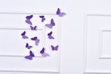 Butterfly 3D Wall Stickers Purple color(12pcs/box)