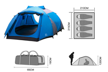 4 person large outdoor family tent two colour