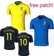 Maillot de foot world cup 2018 patch Brazil football shirt Camisetas Equipe de Brésil Brazilian Brasil Neymar ronaldinho Soccer Jerseys 2019