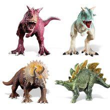 Dinosaur Minifig Building Blocks Puzzles Bricks Tyrannosaurus Therizinosaurus Pteranodon Carnotaurus Stegosaurus Triceratops Carnivorous Red