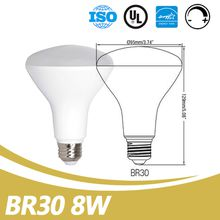 China Supplier Wholesale 650lm E26 Dimmable 8W BR30 Led Bulbs for Kitchen UL Energy Star Listed Led BR30