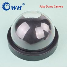 CWH Simulation Camera Dome Fake Camera Realistic Looking Motion Detection Security Camera Support Battery with Activation Light