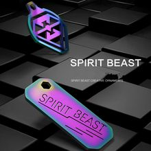 Spirit Beast motorcycle modified decorative keychain colorful 304 stainless steel very cool styling L1