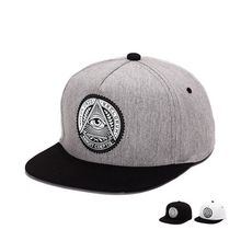 Top grade cotton fabric baseball cap with round rubber round eyes for ladies and men