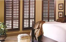 FREE SHIPPING BY SEA MADE TO MEASURE REAL BASSWOOD WOODEN PLANTATION SHUTTERS WITH HINGE