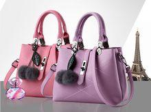 2018 Clock Violin Wall Calendar 2017 New European Hair Ball Bag Handbag Simple Diagonal Bags, Elegant Fashion Handbags, Confident Satchel