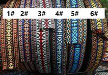 Customiz wholesale Woven Jacquard Ribbon geometric design for clothing accessory LS-1347