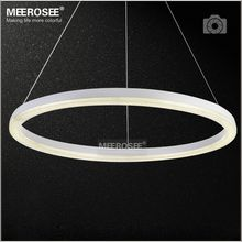 26 inch LED Ring Light Fixture Crystal Pendant Light Modern LED Lighting White LED Lustre Suspension Drop Lamp