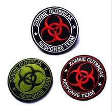 VP-126 3.15*3.15 inch 3D Embroidered patches Zombie Outbreak Tactical Badge patches outdoor badges sew on patch Game patch