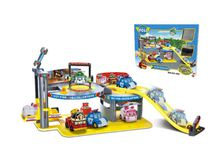 kid toys The pelli carpark rail car is equipped with 2 character taxi children's anime puzzle toys