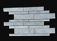 Graceful Long Marble Staggered Row Linear Mosaic Tile Home Decoration for feature wall, kitchen backsplash, bathroom surrounding 10pcs/lot