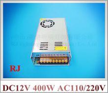 DC12V 400W LED switching power supply LED switch power input AC110V / AC120V / AC220V / AC240V output DC12V 400W 33A CE ROHS