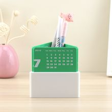 Creative Triangle Pen Holder Desk Calendar Plastic Stationery Storage Box Novelty Office Corporation Promotion Advertising Gifts