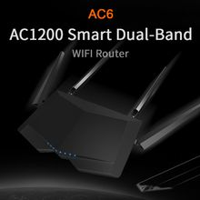Tenda AC6 1200Mbps Smart Dual-Band 802.11AC 2.4G/5.0GHz Gigabit Wireless WiFi Router Wi-Fi Repeater,APP Manage,English Firmware