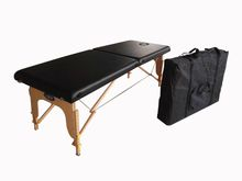 Beauty Wooden Massage Table With White PU Leather Without Accessories