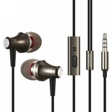 Phones Earphones Headphone Wired Stereo Headset Earphones for a Mobile Phone Super Bass Ear Phones with Microphone Metal One Molding Earbuds
