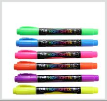 Double tips liquid ink fluorescent color highlighter marker pen