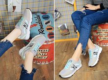 2018 autumn new mesh cloth shoes Korean version of breathable wild casual shoes flat student sneakers