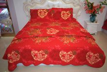 Vietnamese wedding decoration supplies buy vietnamese wedding 2018 new style hot sale 100cotton china red wedding four piece of bed junglespirit Choice Image