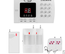 Home alarm infrared alarm door security system