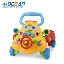 Wholesale B/O indoor kids game interesting plastic baby car with music