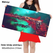 700 X300x2mm / 900 X400x2mm Gun Shooting Pattern CSGO Mouse Pad with A Large Size Lock Edge Laptop Keyboard Pad Player Gift
