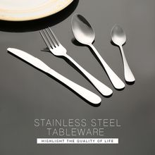 High quality wholesale family hotel restaurant stainless steel cutlery set