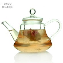 glass teapot with infuser, hand made heat resistant borosilicate Clear Pyrex glass, Coffee Tea Pot Juice Kettle,500ml