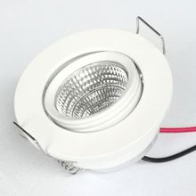 3W mini down light showcase showroom canbinet recessed light ceiling mounted angle change