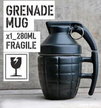 Grenade Mug Grenade Cup with Lid Water Cup Coffee Cup with Cover White or Black to choose